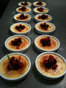 Ginger Creme Brulee with Fresh Berries
