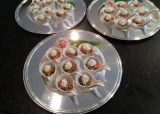 Smoked Salmon Tartare on English Cucumber with Herbed Cream Cheese